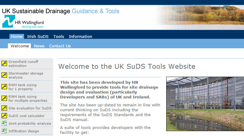 UK SuDS Tools Website