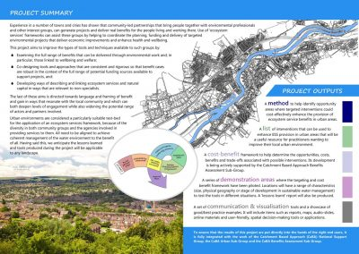 Ecosystem Services in Urban Environments: Project Leaflet